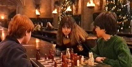 Emma Watson Daniel Radcliffe Rubert Grint chess schach Chris Columbus Harry Potter And The Sorcerer's Stone