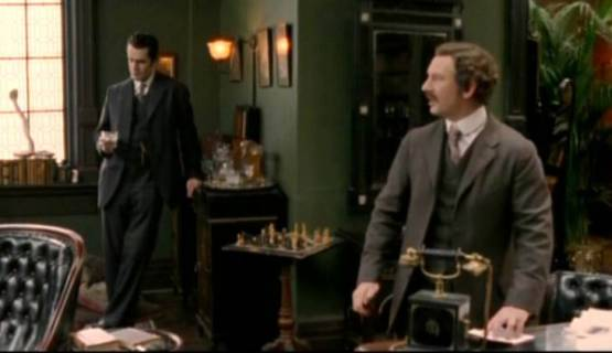 Ian Hart Rupert Everett chess schach Simon Cellan Jones Sherlock Holmes and the Case of the Silk Stocking