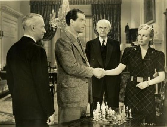Madeleine Carroll Fred MacMurray chess schach Edward H. Griffith Cafe Society