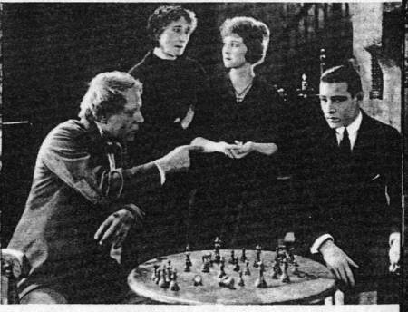 Alice Terry Rudolpho Valentino chess schach Rex Ingram Conquering Power, The