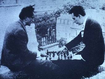 Marcel Duchamb Man Ray chess schach Rene Clair Entr'acte