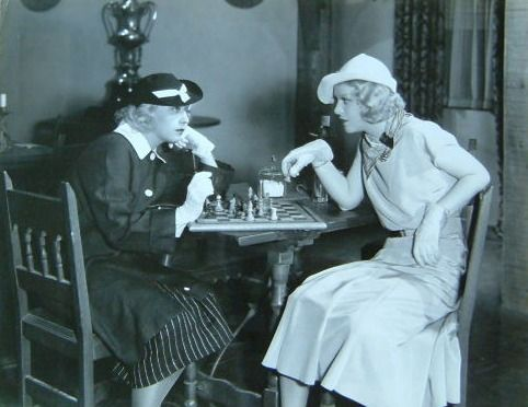 Joan Blondell Madge Evans chess schach Lower Sherman Greeks had a Word for it, The