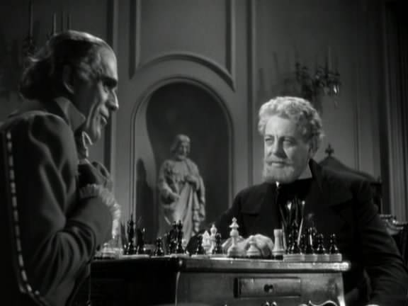 Boris Karloff Thurnton Hall chess schach Roy William Neil Black Room, The