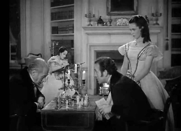 David Niven Cecil Humphreys Geraldine Fitzgerald chess schach William Wyler Wuthering Heights