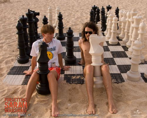 Russel Brand Jack McBrayer chess schach Nicolas Stoller Forgetting Sarah Marshall