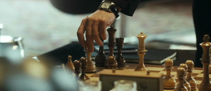 John Travolta Jonathan Rhys Meyers Richard Durden chess schach Pierre Morell From Paris With Love