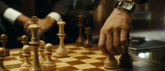 From Paris With Love, John Travolta, Jonathan Rhys Meyers, Richard Durden, Pierre Morell, chess schach ajedrez echecs