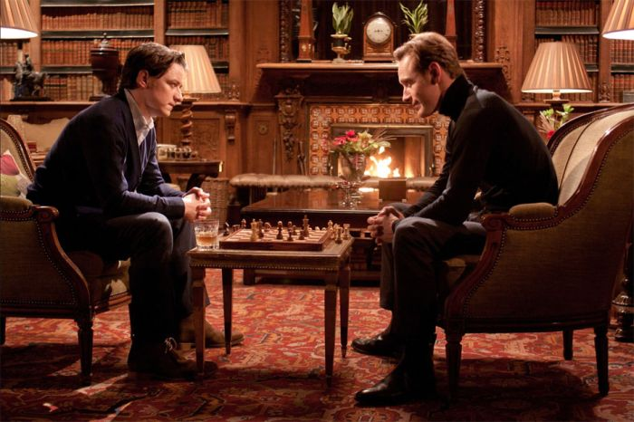 Michael Fassbender James McAvoy chess schach Matthew Vaughn X-Men: First Class