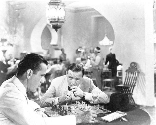 Humphrey Bogart Peter Lorre chess schach Michael Curtiz Casablanca