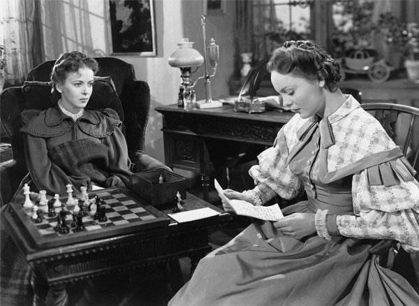 Ida Lupino Nancy Coleman chess schach Curtis Bernhardt Devotion