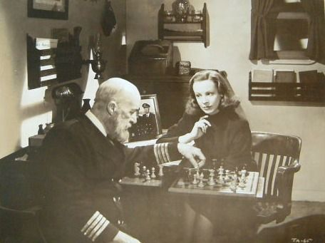 Signe Hasso J. Farrell MacDonald chess schach Edwin L. Marin Johnny Angel