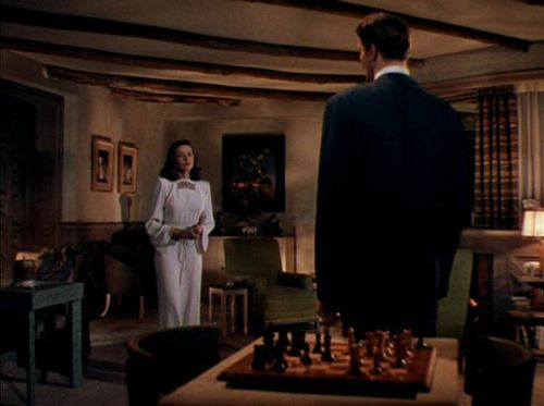 Gene Tierney Cornel Wilde chess schach John M. Stahl Leave Her to Heaven
