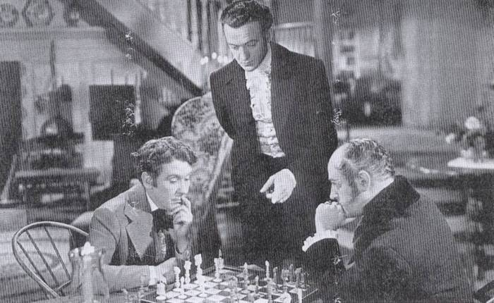 David Niven Burgess Meredith chess schach Frank Borzage Magnificent Doll
