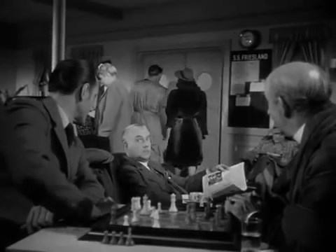 Basil Rathbone Nigel Bruce chess schach Roy William Neill Pursuit to Algiers