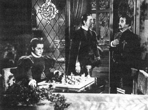Claude Rains Barbara Marshall chess schach Michael Curtiz Sea Hawk, The