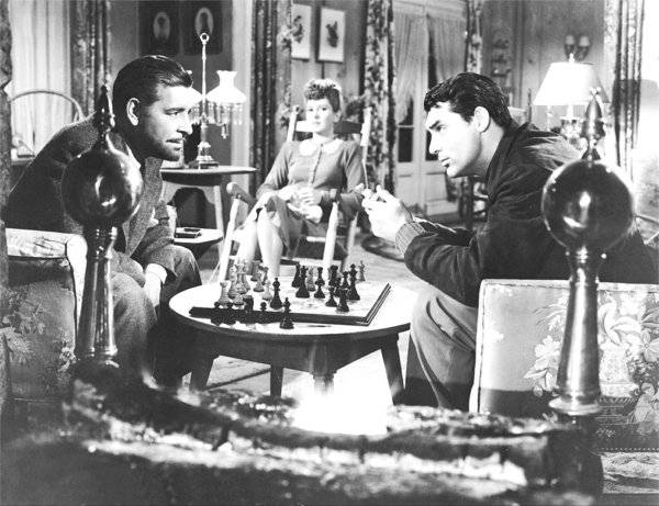 Ronald Colman Jean Arthur Cary Grant chess schach George Stevens Talk Of The Town