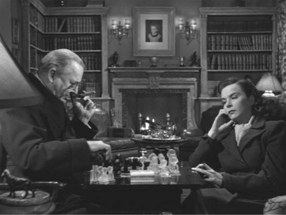 Charles Coburn Joan Tetzel chess schach Alfred Hitchcock Paradine Case, The