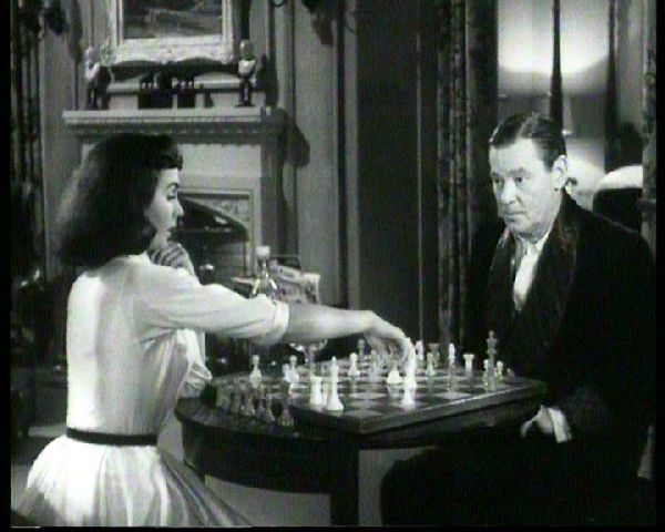 Jean Simmons Herbert Marshall chess schach Otto Preminger Angel Face