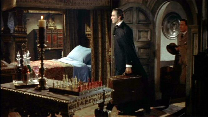 Christopher Lee John Van Eyssen chess schach Terence Fisher Dracula