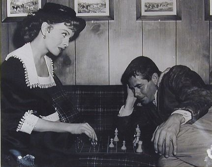 Jeanne Crain Glenn Ford chess schach Russell Rouse Fastest Gun Alive, The