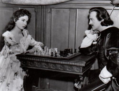 Ann Blyth David Niven Edmund Purdom chess schach Robert Z. Leonard King's Thief, The