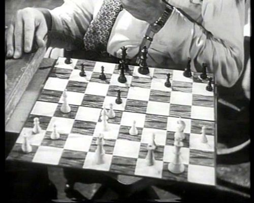 Montgomery Clift Robert Ryan chess schach Vincent J. Donehue Lonelyhearts