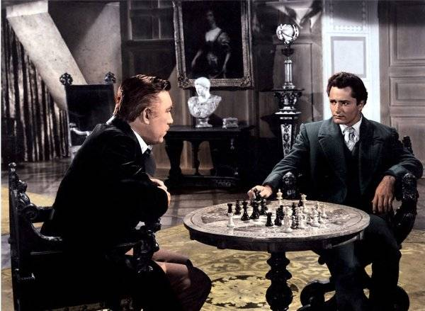 Anthony Quinn John Derek chess schach Phil Karlson Mask Of The Avenger