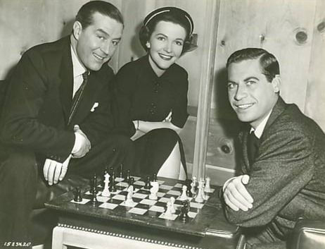 Nancy Davis (Reagan) Ray Milland John Hodiak chess schach Fletcher Markle Night into Morning