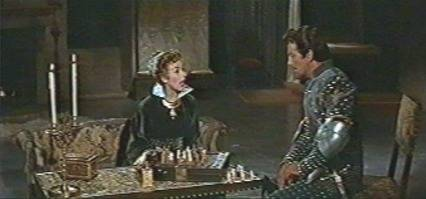 Kay Kendall Robert Taylor chess schach Richard Thorpe Adventures Of Quentan Durward, The
