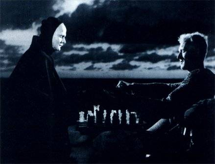 Bengt Ekerod Max von Sydow chess schach Ingmar Bergman Sjunde inseglet, Det (The Seventh Seal)