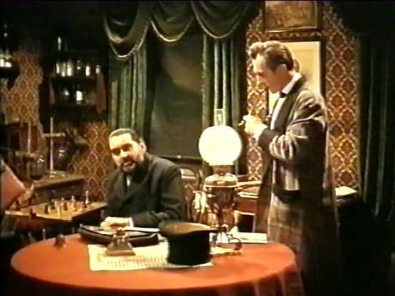 Peter Cushing André Morell chess schach Terence Fisher Hound of the Baskervilles, The