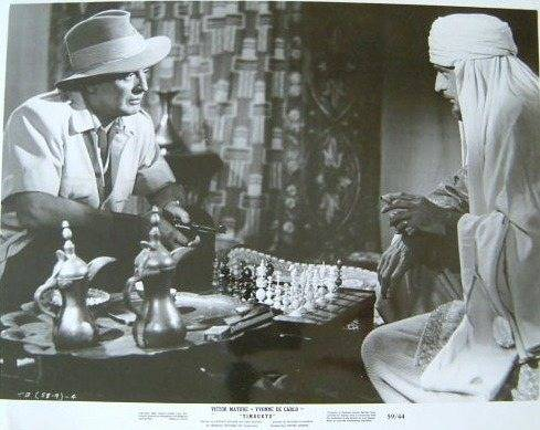 Victor Mature Paul Wexler chess schach Jacques Tourneur Timbuktu