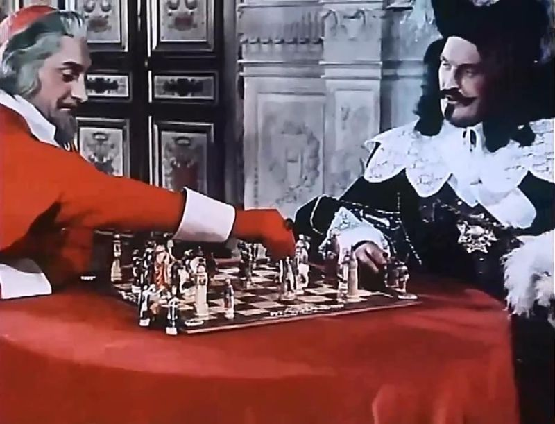 Renaud Mary Louis Arbessier chess schach André Hunebelle Trois Mousquetaires, Les