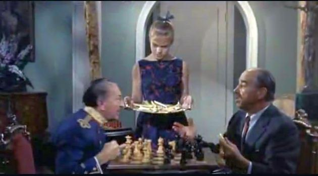 Leo Mostovoy James Dime chess schach William Castle 13 Frightened Girls!