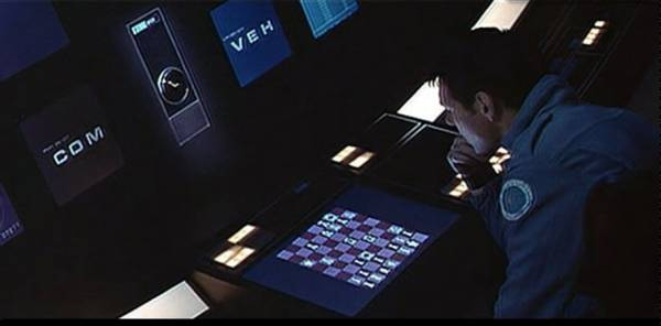 Gary Lockwood HAL 9000 chess schach Stanley Kubrick 2001 a Space Odyssey