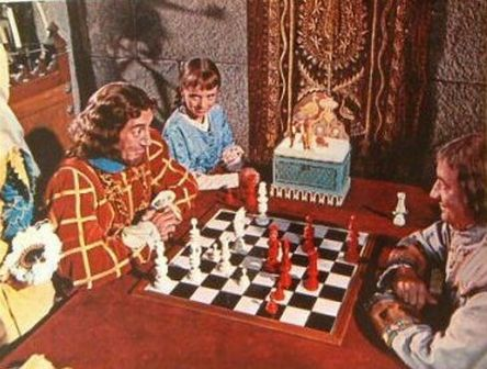 June Thorburn Kerwin Mathews Grégoire Aslan chess schach Jack Sher 3 Worlds of Gulliver, The