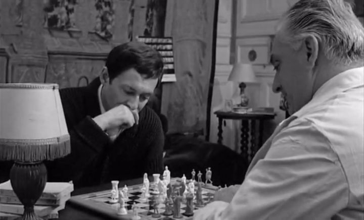 Maurice Ronet Jean-Paul Moulinot chess schach Louis Malle Feu Follet, Le