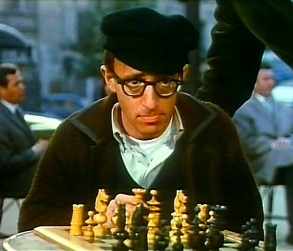 Peter O'Toole Woody Allen Nicole Karen chess schach Clive Donner What's New, Pussycat