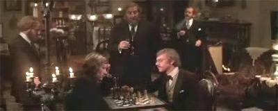 Malcolm McDowell David Warner chess schach Nicholas Meyer Time After Time
