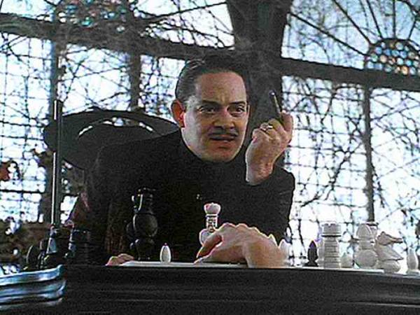 Anjelika Houston Raul Julia chess schach Barry Sonnenfeld Addams Family, The