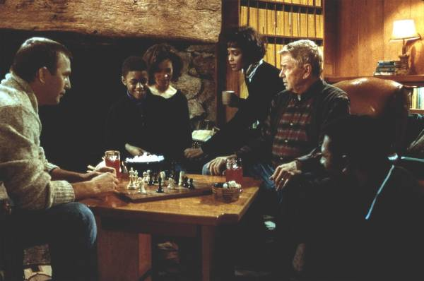 Whitney Houston Kevin Costner Ralph Waite chess schach Mick Jackson Bodyguard, The