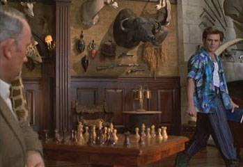 Jim Carrey Simon Callow chess schach Steve Oedekerk Ace Ventura - When Nature Calls